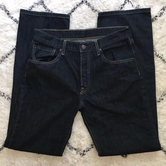 eda2eedd Levi's Jeans | Mens Levis 501 Button Fly Dark Wash Sz 32x34 | Poshmark